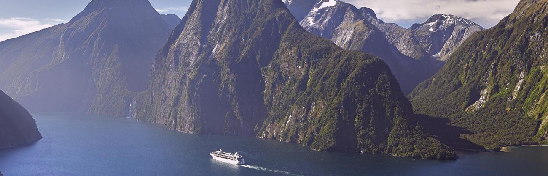 montanhas de Fiordland