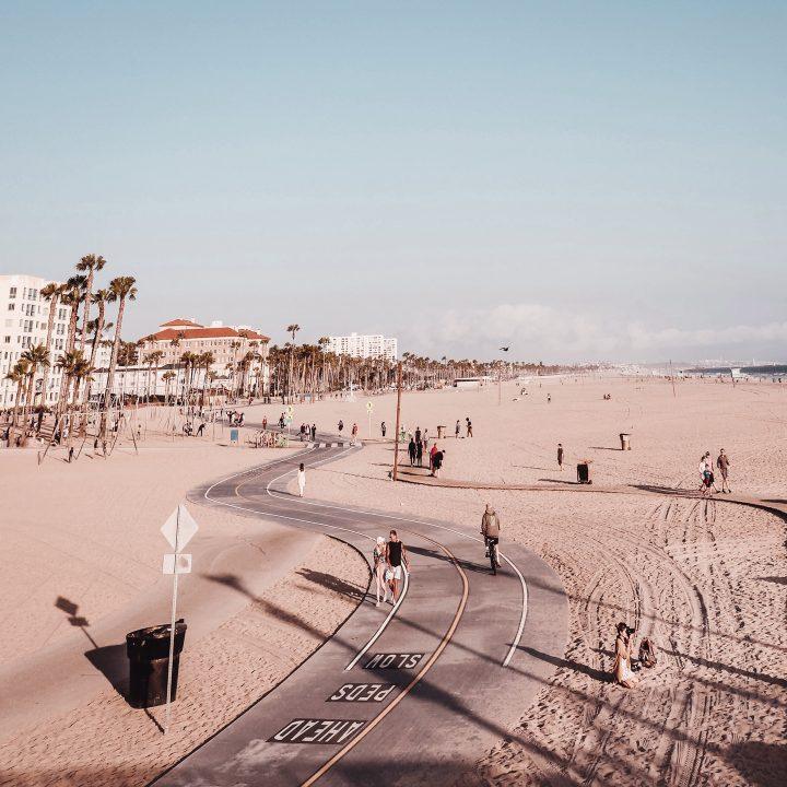 Intercâmbio para os EUA. Foto de Venice Beach, na Califórnia.