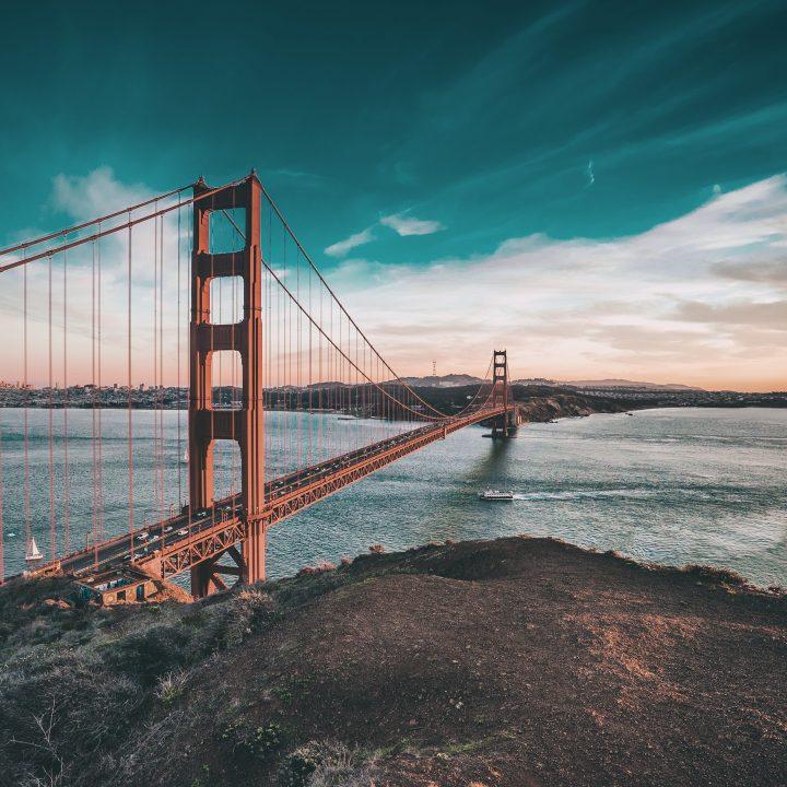Preço de Intercâmbio nos EUA. Foto da Golden Gate, em San Francisco.