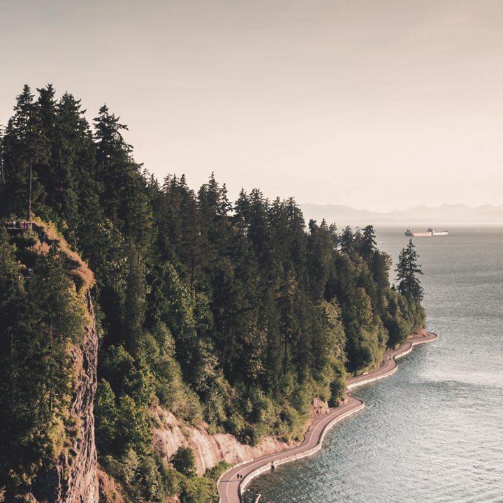 Up Study Agência de Intercambio - Foto do Stanley Park em Vancouver, Canadá.