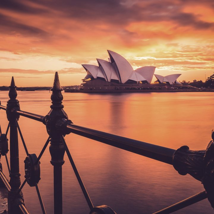 Cidades da Australia. Na foto, Opera House em Sydney.