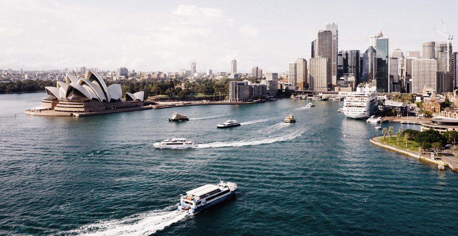 foto da baía de Sydney