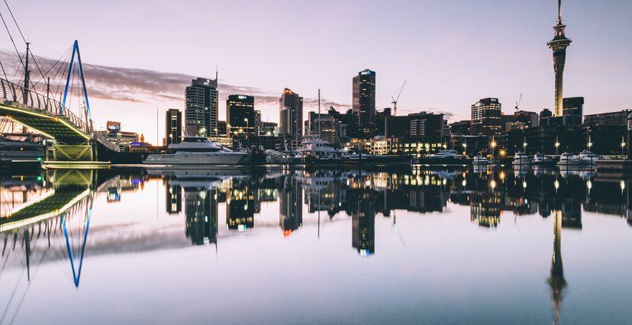 Vista de Auckland, uma das cidades da Nova Zelândia