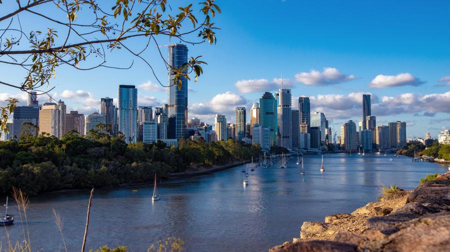 visão do rio de Brisbane
