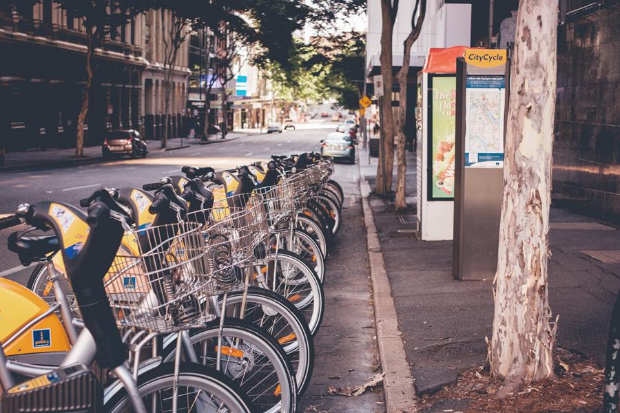 estação de bicicleta