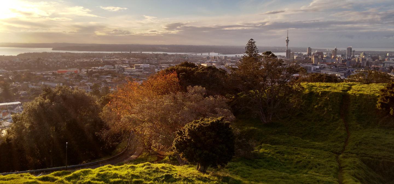 Intercâmbio Nova Zelândia - Prós e Contras - Na foto, o landscape de Auckland.