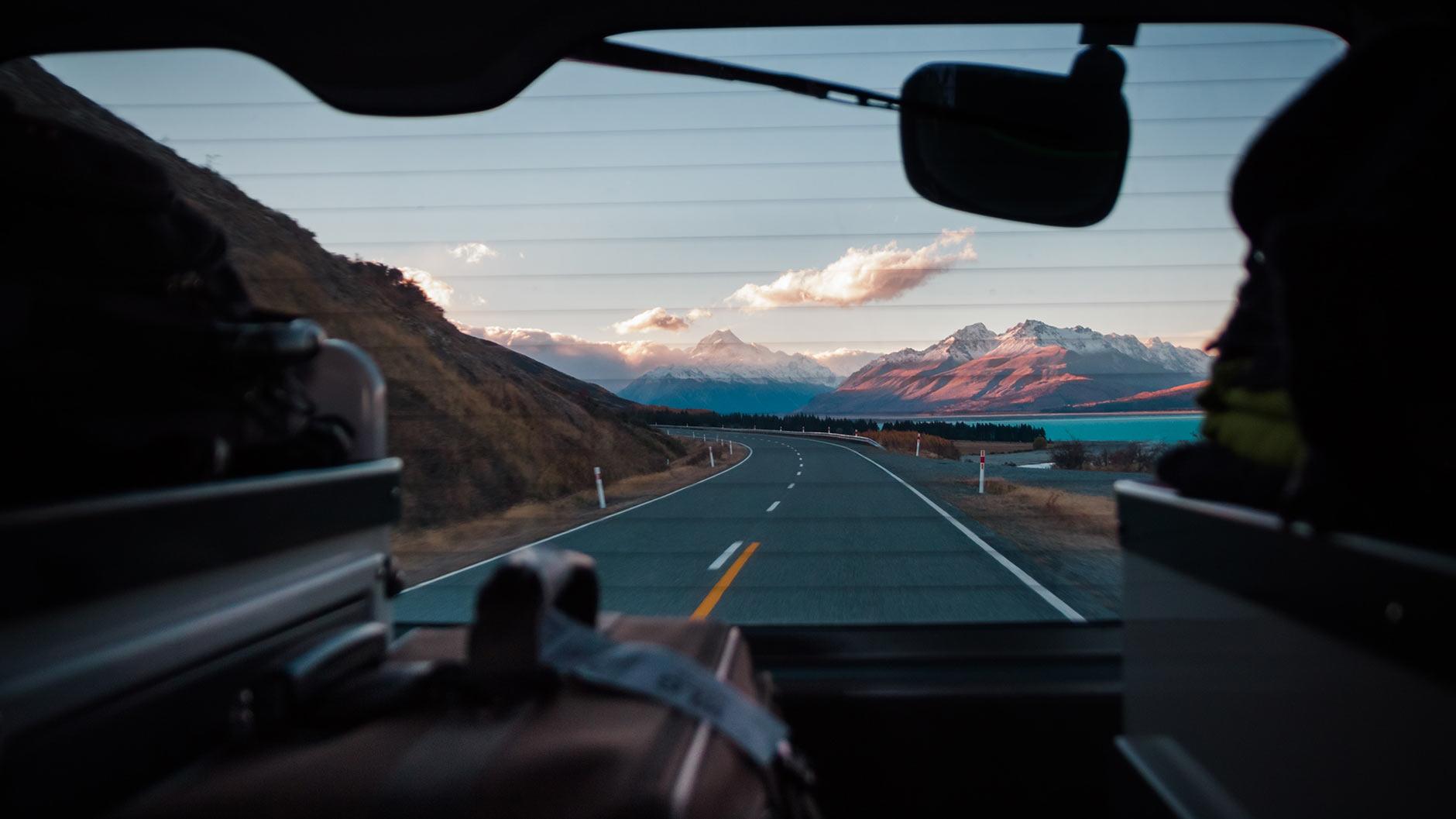 Viajar de carro na Nova Zelândia