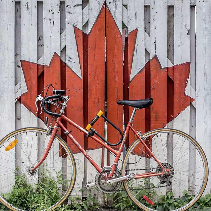College no Canda - foto de uma bicicleta