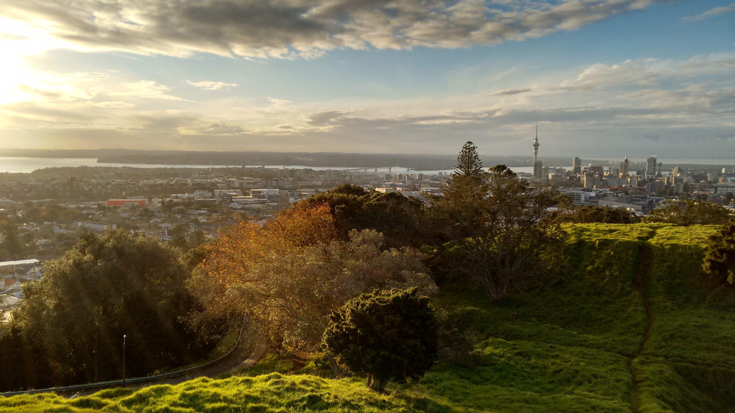 Vista da cidade de Auckland, na Nova Zelândia
